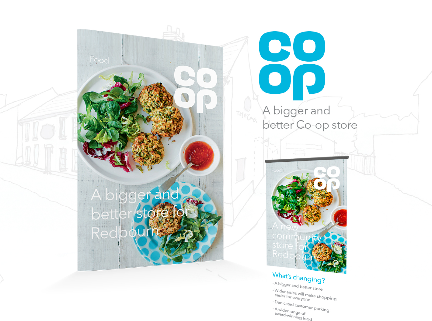 co-op leaflet design promoting their food selection