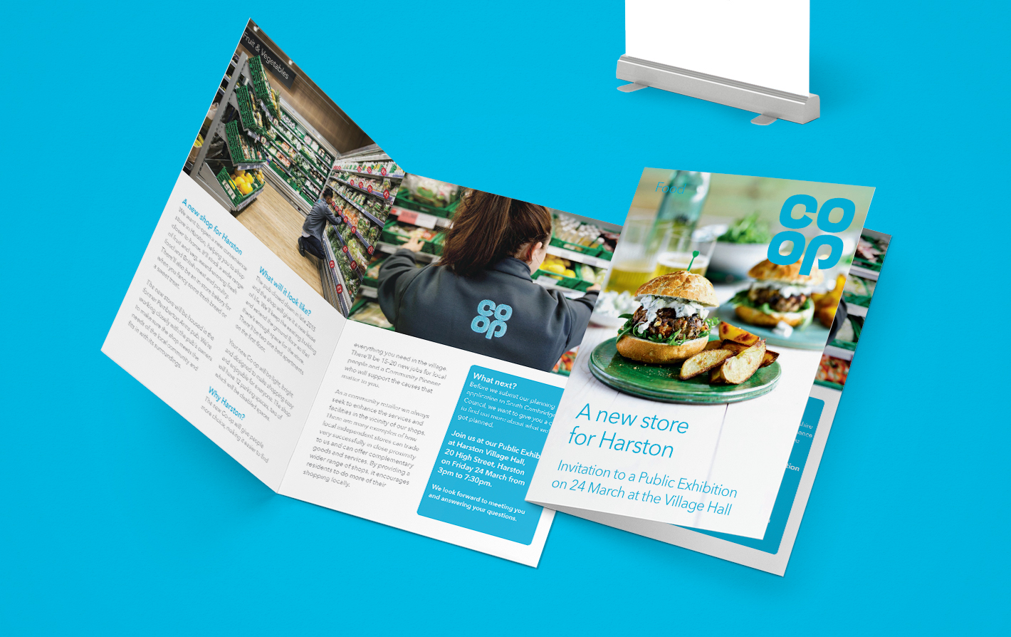 an inside view of the promotional leaflet design