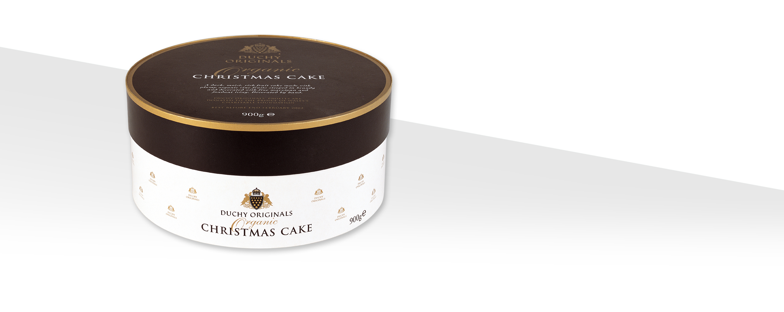 duchy originals packaging design for organic christmas cake