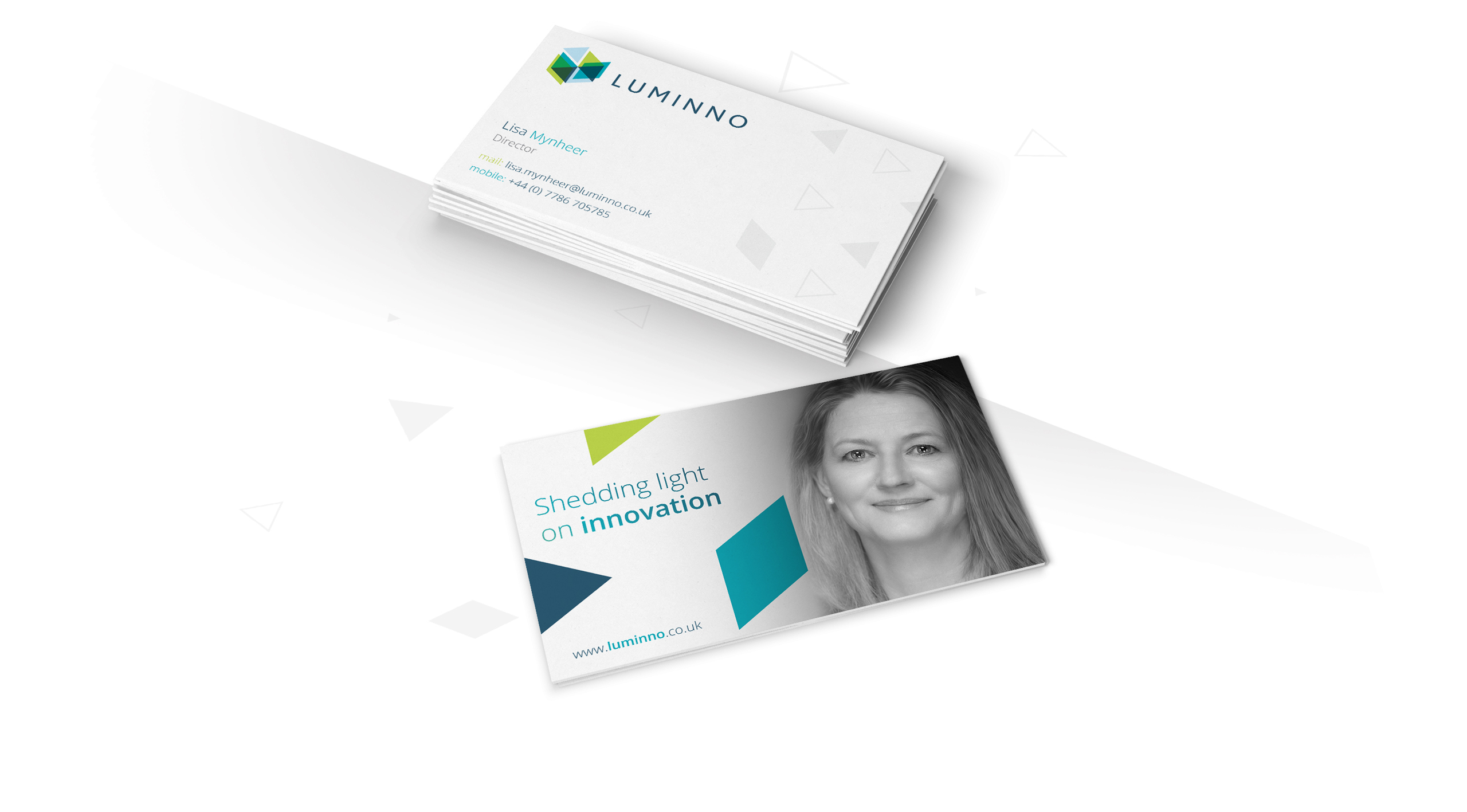 luminno business card design front and back