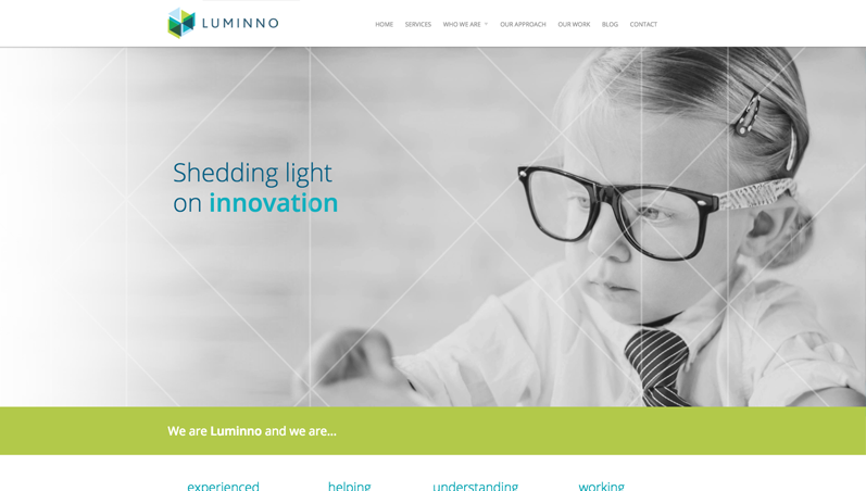 luminno website homepage