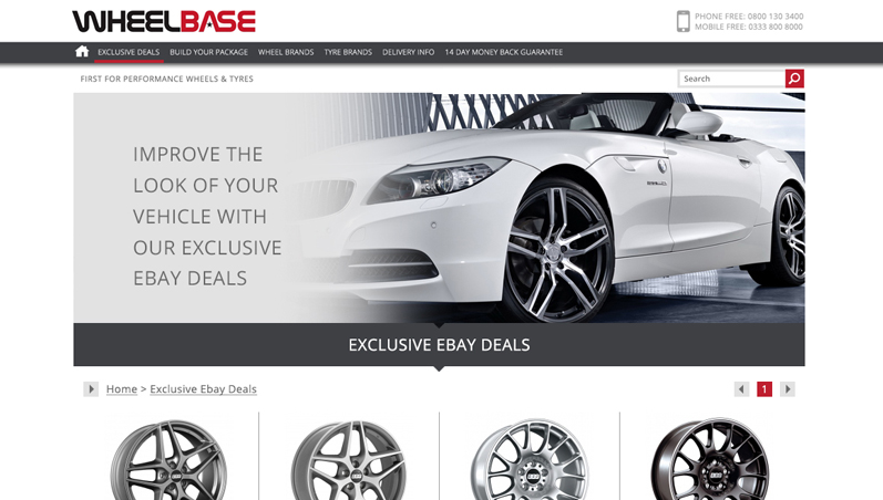 an example of the proposed wheelbase website design